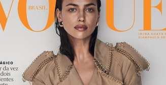 В шляпе и меховом бикини: Ирина Шейк для бразильского Vogue