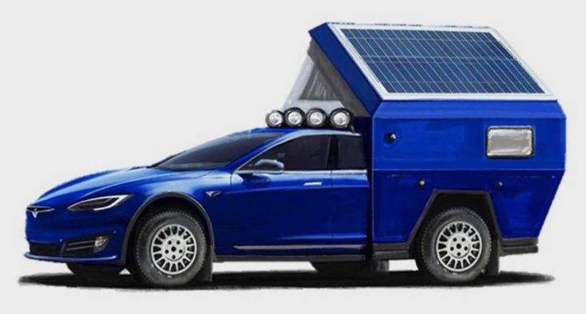 Tesla Model S стал домом на колесах