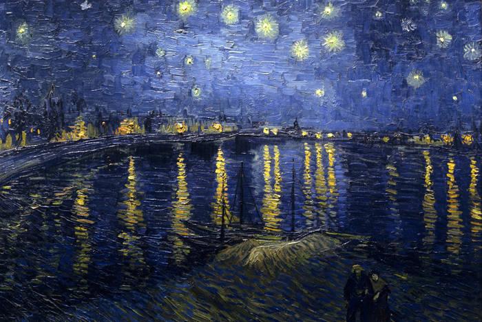 """Картину Ван Гога """"Звездная ночь над Роной"""" считают очень успокаюващей. Возможно, как раз из-за синего цвета"""