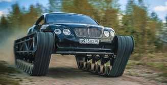 Безумный тюнинг: что будет, если на Bentley поставить гусеницы вместо колес?